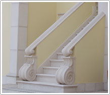 Staircase and railings